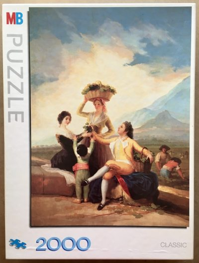Image of the puzzle 2000, MB, The Grape Harvest, by Francisco de Goya, Sealed Bag, Picture of the box