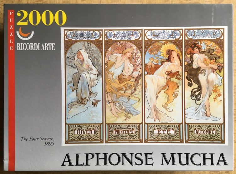 Image of the puzzle 2000, Ricordi, The Four Seasons, by Alphonse Mucha, Sealed Bag, Picture of the box
