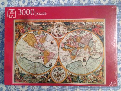 Image of the puzzle 3000, Jumbo, Historical World Map, by Petrus Plancius, Factory Sealed
