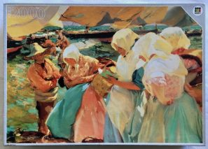 Image of the Puzzle 2000, Diset, Women at the Beach, Complete, Picture of the Box