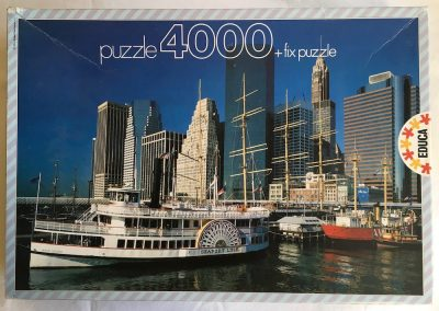 Image of the puzzle 4000, Educa, Boats in New York, Sealed Bag, Picture of the box