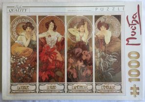 Image of the puzzle 1000, D-Toys, The Precious Stones, Alphonse Mucha