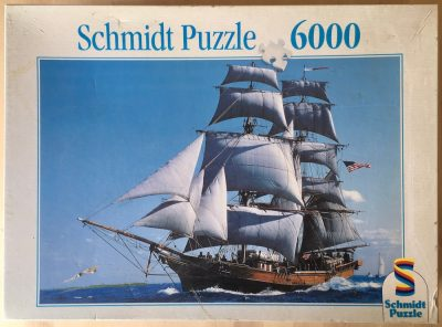 Image of the puzzle 6000, Schmidt, Sailing Ship, Picture of the box