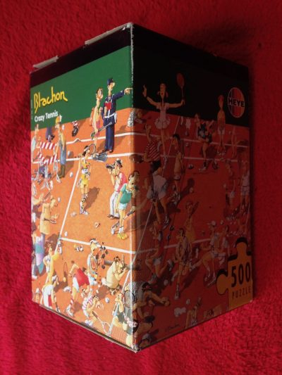 Image of the puzzle 500, Heye, Crazy Tennis, Roger Blachon, Sealed Bag, Picture of the box