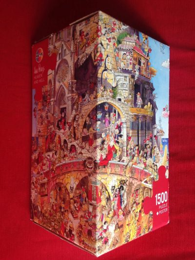 Image of the puzzle 1500, Heye, Heaven and Hell, by Hugo Prades, Complete, Picture of the Box