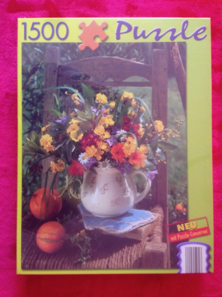 Image of the puzzle 1500, Bookmark Verlag, Colorful Bouquet, Factory Sealed