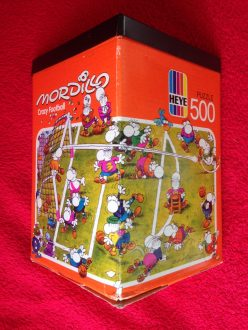 Image of the puzzle 500, Heye, Crazy Football, Guillermo Mordillo, Complete, Picture of the box