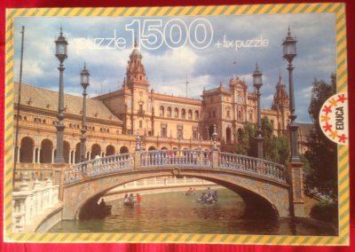 Image of the puzzle 1500, Educa, Plaza de España, Sevilla, Complete, Pictue of the box
