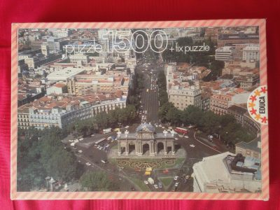Image of the puzzle 1500, Educa, The Alcalá Gate, Madrid, Complete, Picture of the box