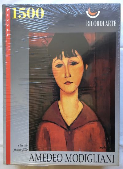Image of the puzzle 1500, Ricordi, Head of a Young Girl, by Amedeo Modigliani, Factory Sealed
