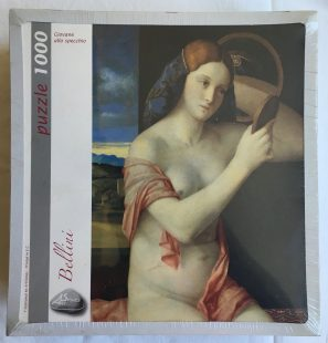 Image of the puzzle 1000, Art Stones, Naked Young Woman in front of the Mirror, Giovanni Bellini, Factory Sealed