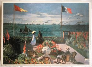 Image of the puzzle 2000, Elle, Terrace at Sainte-Adresse, Claude Monet, Factory Sealed, Picture of the box