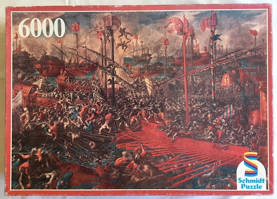 Image of the puzzle 6000, Schmidt, The Battle of Lepanto, Sealed Bag, Picture of the box