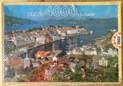 Image of the puzzle Puzzle 4000, Educa, Bergen, Norway, Factory Sealed, Picture of the box