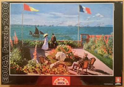 Image of the puzzle 2000, Educa, The Terrace at Sainte-Adresse, by Claude Monet, Factory Sealed