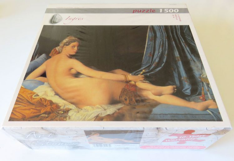 Image of the puzzle 1500, Art Stones, La Grande Odalisque, by Dominique Ingres, Complete, Picture of the box