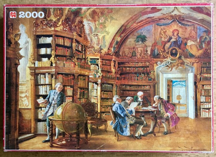 Image of the Puzzle 1500, Jumbo, In the Library, Johann Hamza, Picture of the Box