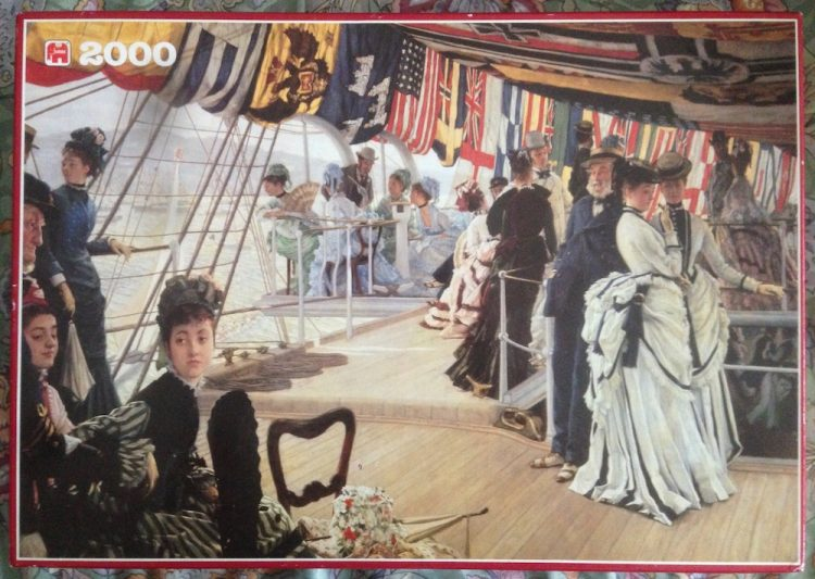 Image of the puzzle 2000, Jumbo, The Ball on Shipboard, by James Tissot, Picture of the box