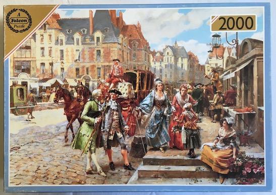 Image of the puzzle 2000, Falcon, The Promenade, by Henri Victor Lesur, Complete, Picture of the box