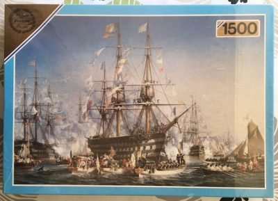 Image of the puzzle 1500, Falcon, Napoleon III Receiving Queen Victoria at Cherbourg, Factory Sealed