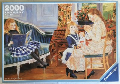 Image of the Puzzle 2000, Ravensburger, Afternoon with the Children, Complete, Picture of the Box