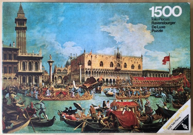 Image of the puzzle 1500, Ravensburger, Venice and the Doge's Palace, by Canaletto, Complete, Picture of the box