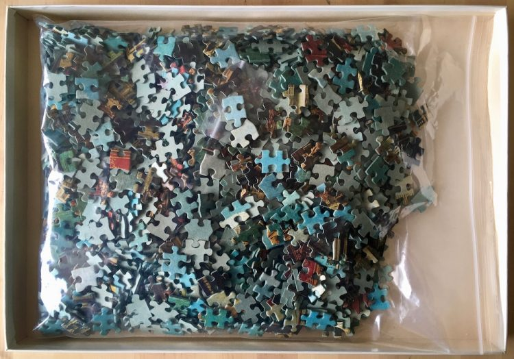 Image of the puzzle 1500, Ravensburger, Venice and the Doge's Palace, by Canaletto, Complete, Picture of the bag