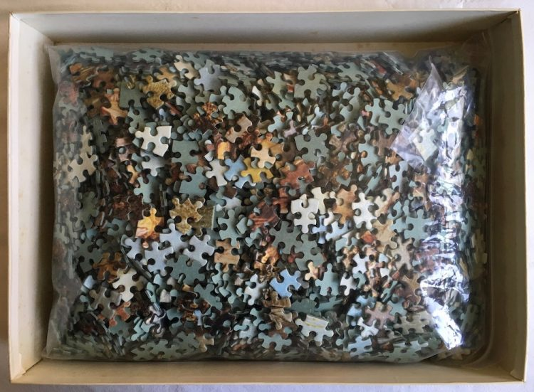 Image of the Puzzle 3000, MB, The Cove, Complete, Picture of the Bag