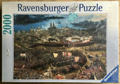 Image of the puzzle 2000, Ravensburger, The Battle of Alexander, by Albrecht Altdorfer, Factory Sealed