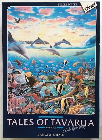 Image of the puzzle 1500, Diset, Tales of Tavarua, by Charles Lynn Bragg, Sealed Bag, Picture of the box