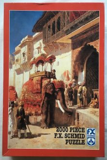 Image of the puzzle 2000, F.X. Schmid, The Rajah Favorite, Edwin Lord Weeks, Picture of the box