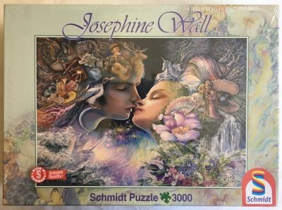Image of the puzzle 3000, Schmidt, The Kiss, by Josephine Wall, Factory Sealed, Picture of the box