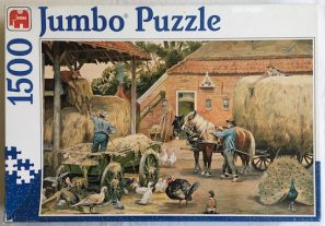 Image of the puzzle 1500, Jumbo, The Last Hay Load, Cornelis Jetses, Complete, Picture of the box