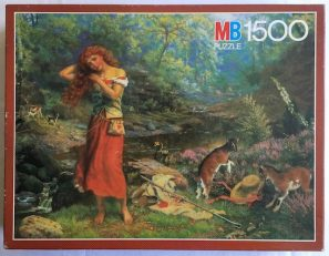 Image of the puzzle 1500, MB, Audreys Toilette, by Arthur Hugues, Complete, Picture of the box
