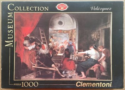 Image of the puzzle 1000, Clementoni, The Spinners, by Diego Velázquez, Sealed Bag, Listed by Jorge, Picture of the box