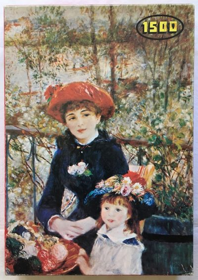 Image of the puzzle 1500, White Horse, On the Terrace, by Pierre-Auguste Renoir, Complete, Picture of the box