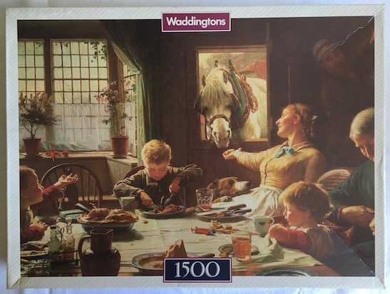 Image of the puzzle 1500, Waddingtons, One of the Family, Complete, Picture of the box