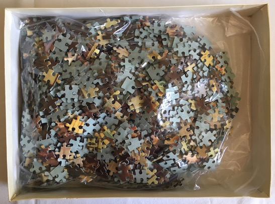 Image of the puzzle 1500, Waddingtons, One of the Family, Complete, Picture of the bag
