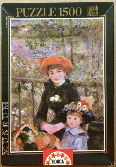 Image of the puzzle 1500, Educa, On the Terrace, by Pierre-Auguste Renoir, Complete, Picture of the box