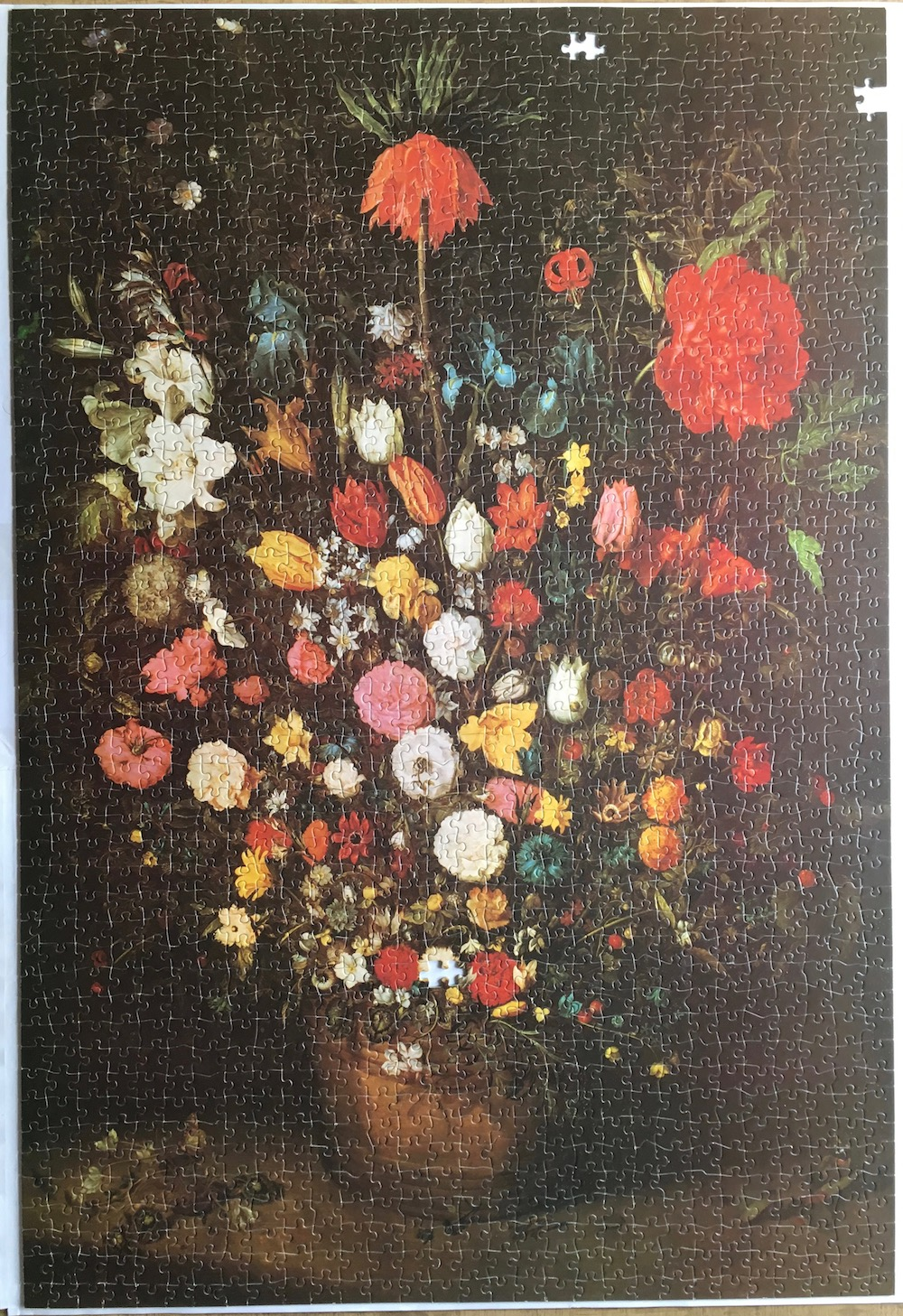 Image of the 1500, F.X. Schmid, Bouquet, Jan Brueghel the Elder, Picture of the Puzzle Assembled