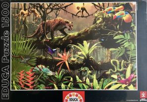 Image of the Puzzle 1500, Educa, Jungle Life, Factory Sealed