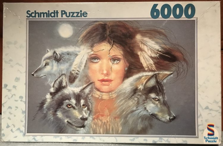 Image of the puzzle 6000, Schmidt, Indian Summer, Joy Caros, Sealed Bag, Picture of the box