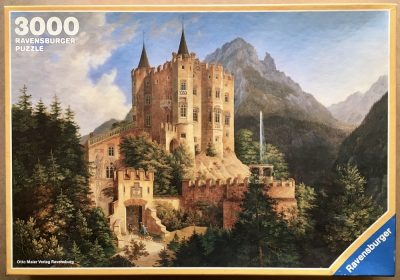 Image of the puzzle 3000, Ravensburger, Castle Hohenschwangau, by Ferdinand Jodl, Sealed Bag, Picture of the box