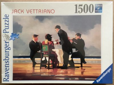 Image of the puzzle 1500, Ravensburger, Elegy for a Dead Admiral, by Jack Vettriano, Factory Sealed, Listed by Jorge