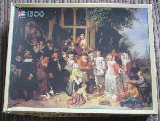 Image of the puzzle 1500, MB, The Wedding in the 19th Century, Complete, Picture of the box