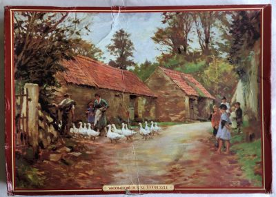 Image of the puzzle 3000, Waddingtons, Wanderers Return, by Stanhope Forbes, Complete, Picture of the box