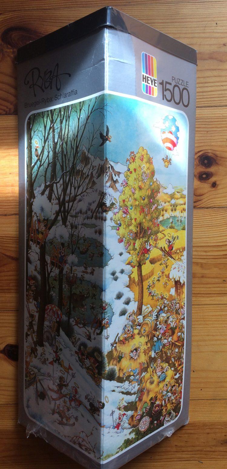 Image of the puzzle 1500, Heye, Bruegel-Ryba: Schlaraffia, by Michael Ryba, Factory Sealed