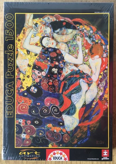 Image of the puzzle 1500, Educa, The Maiden, by Gustav Klimt, Factory Sealed