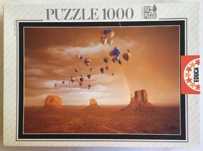 Image of the puzzle 1000, Educa, Monument Valley, USA, Sealed Bag, Picture of the box