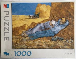 Image of the puzzle 1000, MB, Rest from Work, Complete, Picture of the Box